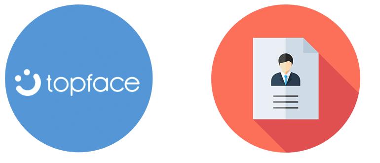 Регистрация в ТопФейсе логотип