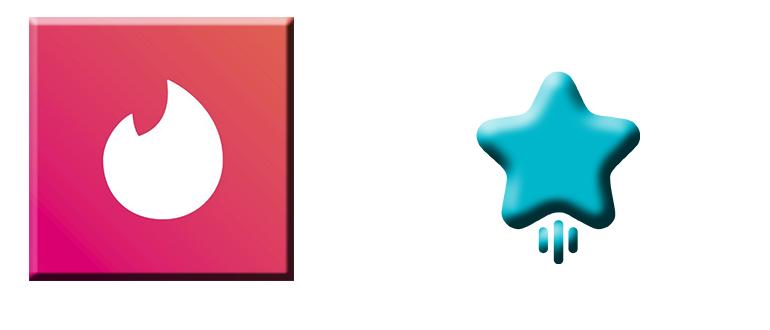 Суперлайк в Тиндере логотип